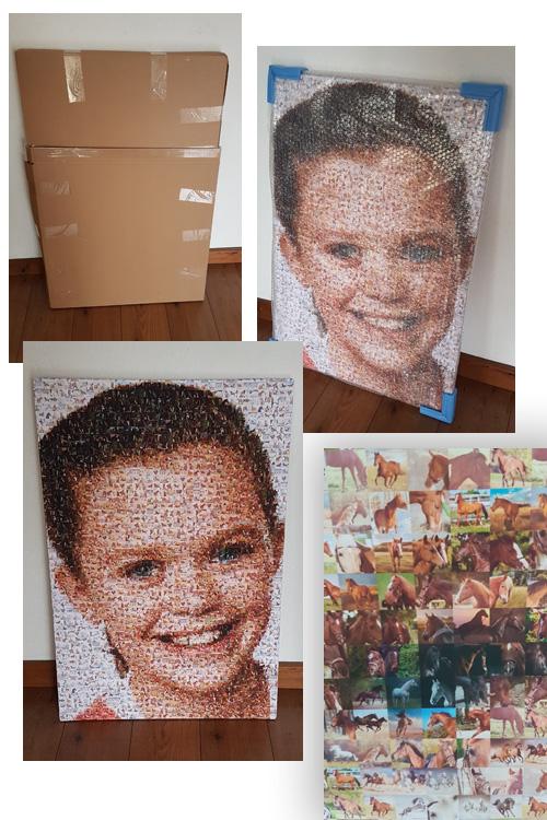 Fotomozaiek op Canvas