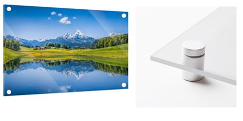 Fotomozaiek op Plexiglas inclusief ophangsysteem